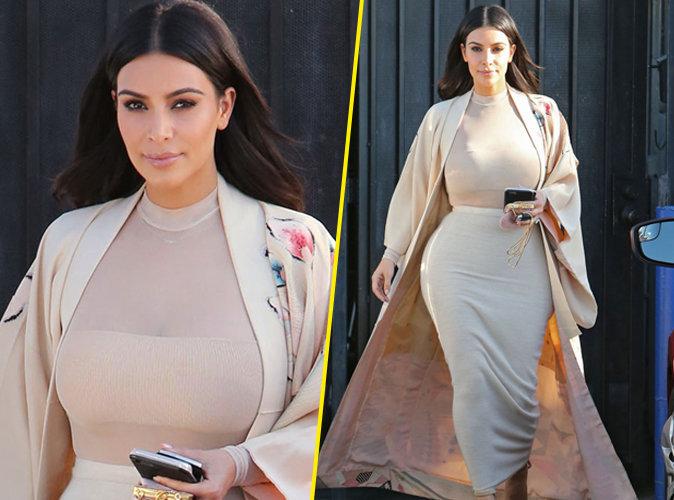 Kim Kardashian : la maman sexy d�voile une photo de son fils Saint !