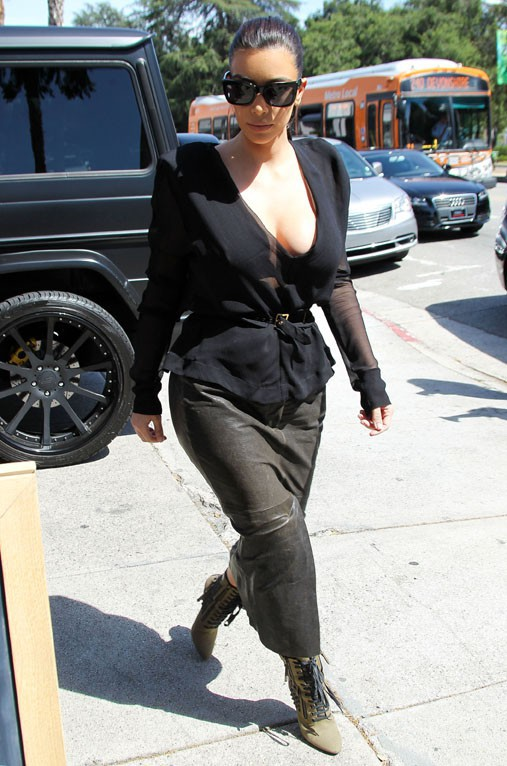 Kim Kardashian à Studio City le 23 avril 2014