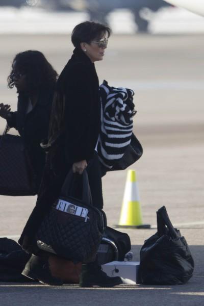 Kris Jenner prête à faire leur retour à L.A., le 2 janvier 2013 dans l'Utah.