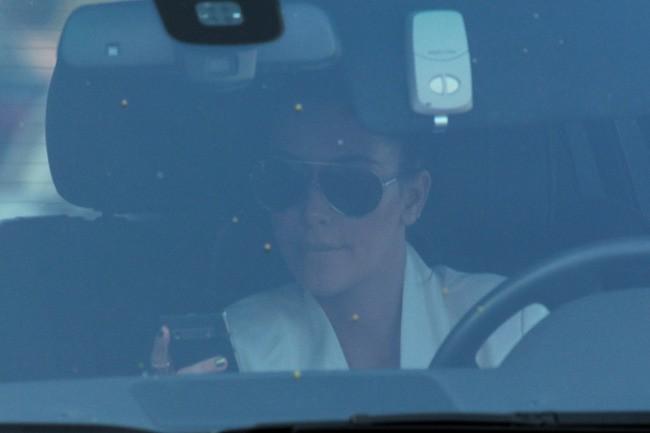 Kim Kardashian toute tristoune à Los Angeles, le 6 mai 2012.
