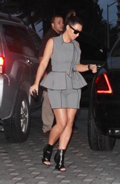 Kim Kardashian à Miami, le 24 septembre 2012.