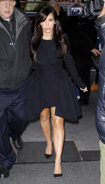 Kim Kardashian à New York, le 15 janvier 2013.
