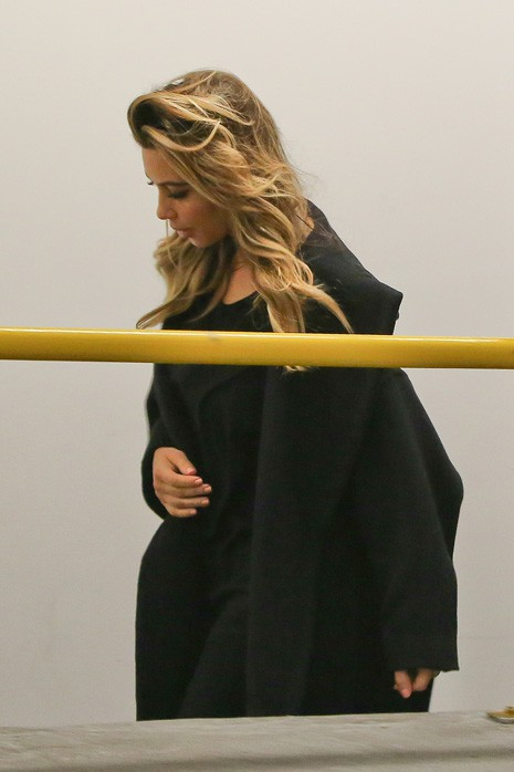 Kim Kardashian et Kanye West à Beverly Hills le 12 janvier 2014