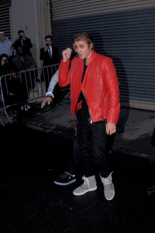 Justin Bieber au défilé Kanye West x Adidas le 12 février 2015