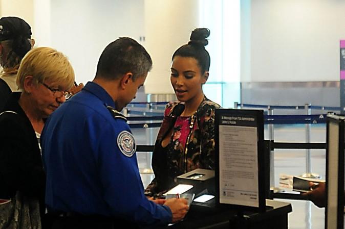 Kim Kardashian à l'aéroport de Miami le 17 septembre 2012