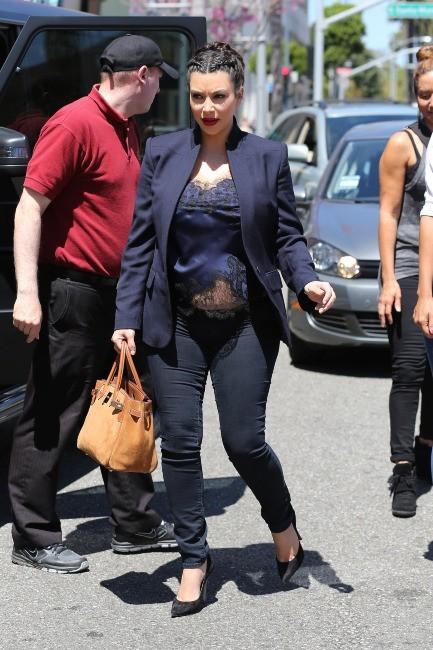 Kim Kardashian à Beverly Hills, le 18 avril 2013.
