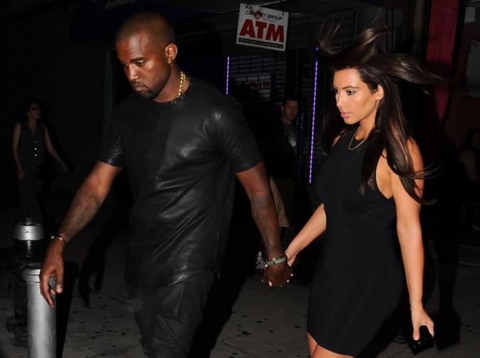 Kim Kardashian et Kanye West le 8 août 2012 à New York