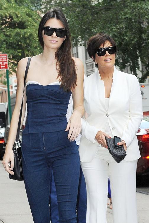 Kendall et Kris Jenner à New-York le 27 juin 2014