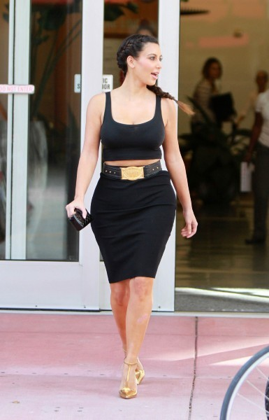 Kim Kardashian à Miami, le 23 octobre 2012.