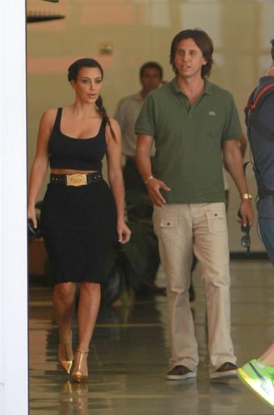Kim Kardashian et Jonathan Cheban à Miami, le 23 octobre 2012.