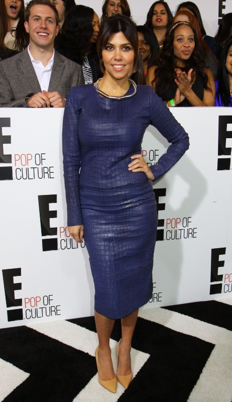 "Kourtney Kardashian lors de la soirée ""E! 2013 Upfront"" à New York, le 22 avril 2013."