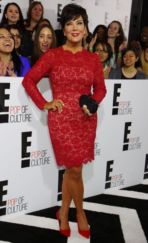 """Kris Jenner lors de la soirée """"E! 2013 Upfront"""" à New York, le 22 avril 2013."""