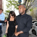 Kim Kardashian et Kanye West en balade à New York, le 24 avril 2013.