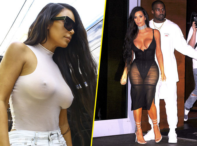 Photos : Kim Kardashian : seins apparents et fesses à l'air à Miami