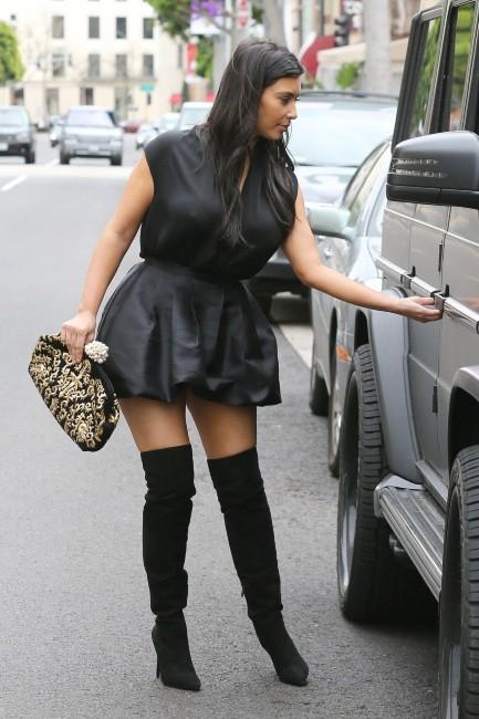 Kim Kardashian à Hollywood, le 23 décembre 2012.