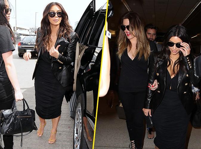 Kim Kardashian et Khloé Kardashian à Los Angeles le 11 mars 2014