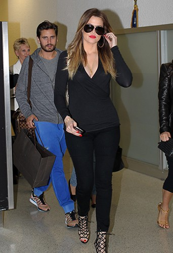Scott Disick et Khloé Kardashian à Miami le 11 mars 2014