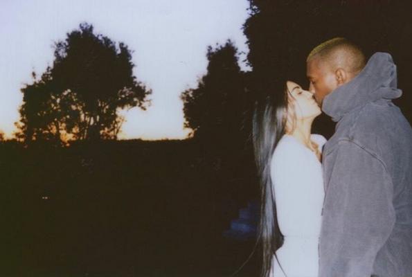 Kim Kardashian : Son cliché avec Kanye West pour la Saint-Valentin