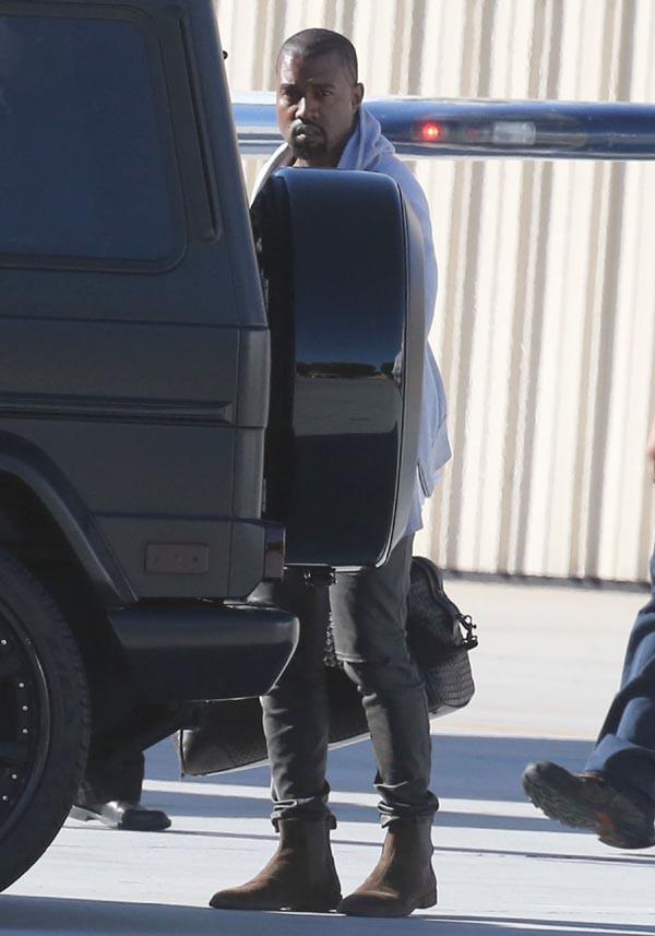 Kim Kardashian récupère Kanye West à Los Angeles le 5 octobre 2014