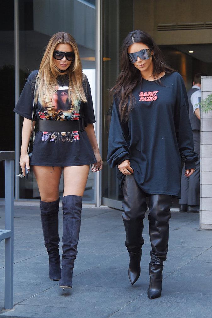 Photos : Kim Kardashian : son mari très déçu par Kris, Kourtney et Khloe !