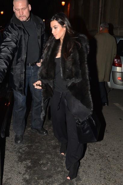 Kim Kardashian à Paris le 23 janvier 2013
