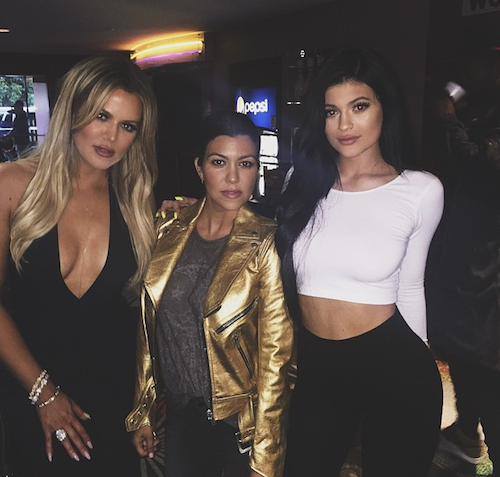 Khloe, Kourtney et Kylie