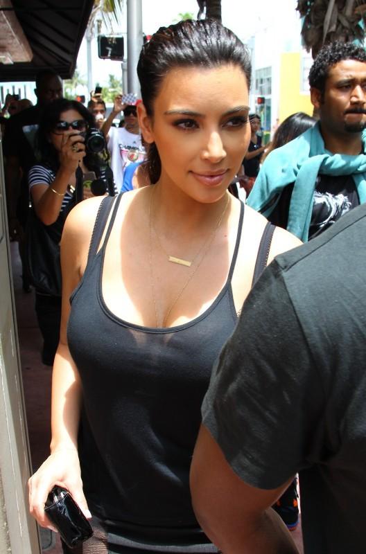 Kim Kardashian à Miami, le 15 juillet 2012.