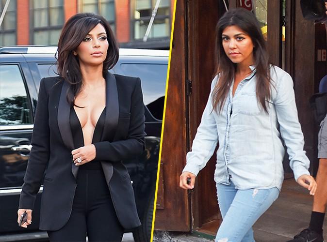 Kim et Kourtney Kardashian à New York le 16 juin 2014