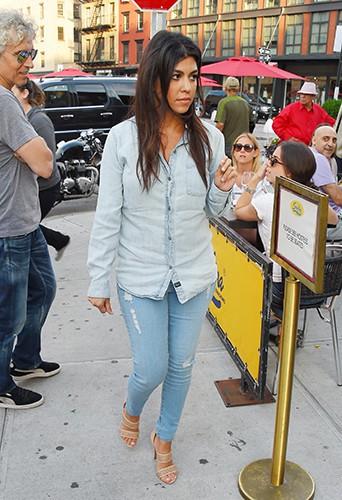 Kourtney Kardashian à New York le 16 juin 2014