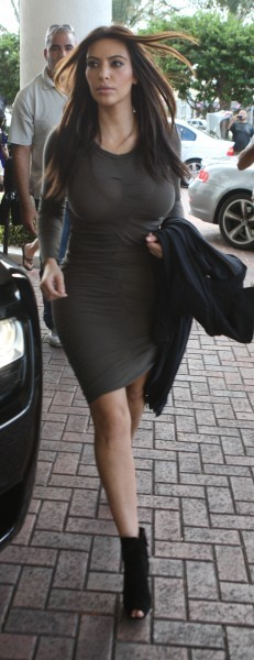 Kim Kardashian à Miami, le 3 décembre 2012.