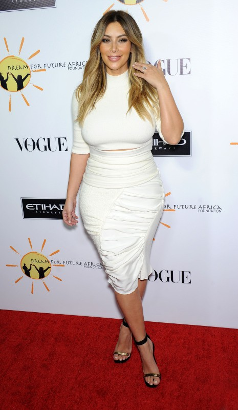 "Kim Kardashianlors du gala ""Dream for Future Africa Foundation"" à Beverly Hills, le 24 octobre 2013."