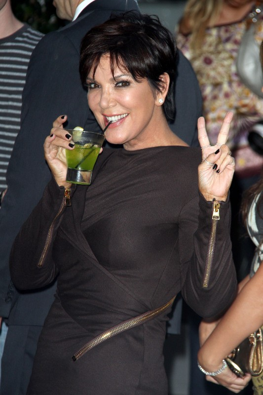 """Kris Jenner lors de la soirée """"The Midori Makeover Parlour"""" à Los Angeles, le 25 septembre 2012."""