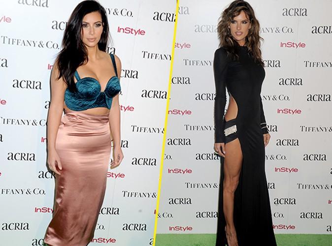 Photos : Kim Kardashian vs Alessandra Ambrosio : duel de bombes sur tapis vert !