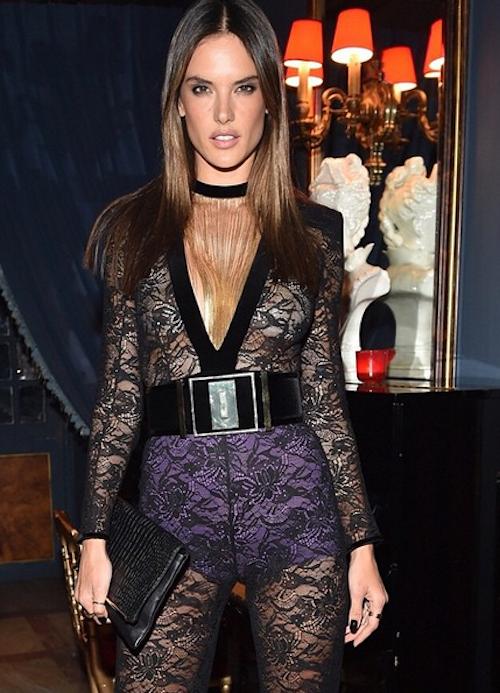 Alessandra Ambrosio à l'after show Balmain à Paris, le 5 mars 2015 !