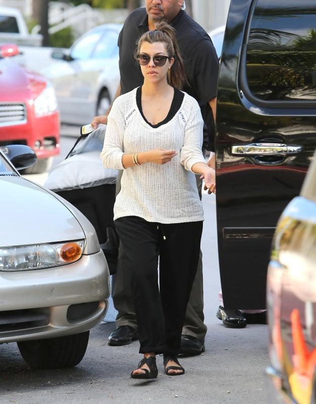 Kim, Kourtney, Khloe Kardashian, Miami, 10 octobre 2012.