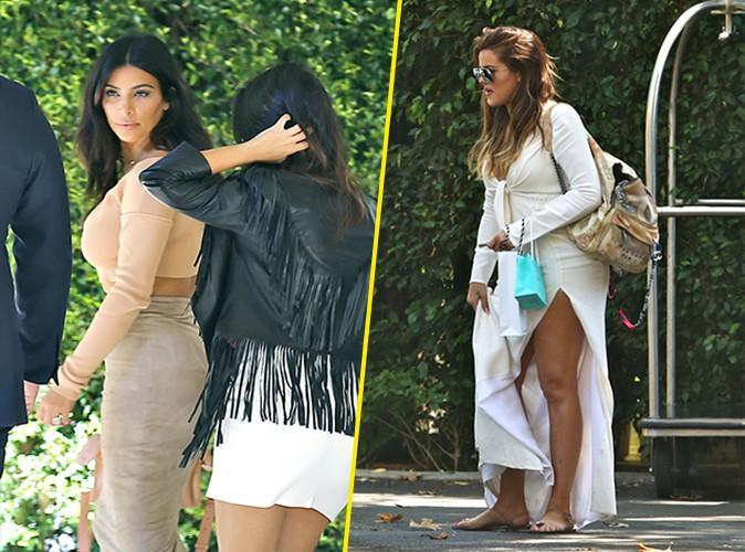 Photos : Kim, Kourtney et Khloé Kardashian : inséparables pour se rendre à la baby shower d'une amie !