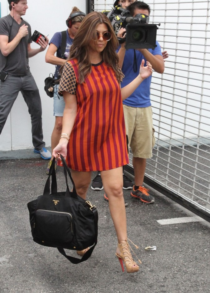 Kourtney Kardashian à Miami,  le 16 septembre 2012.