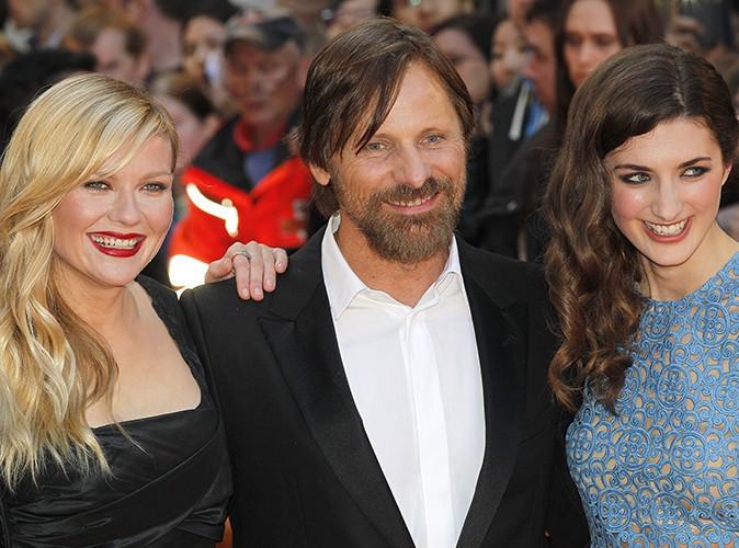 Kirsten Dunst, Viggo Mortensen et Daisy Bevan à Londres le 13 mai 2014