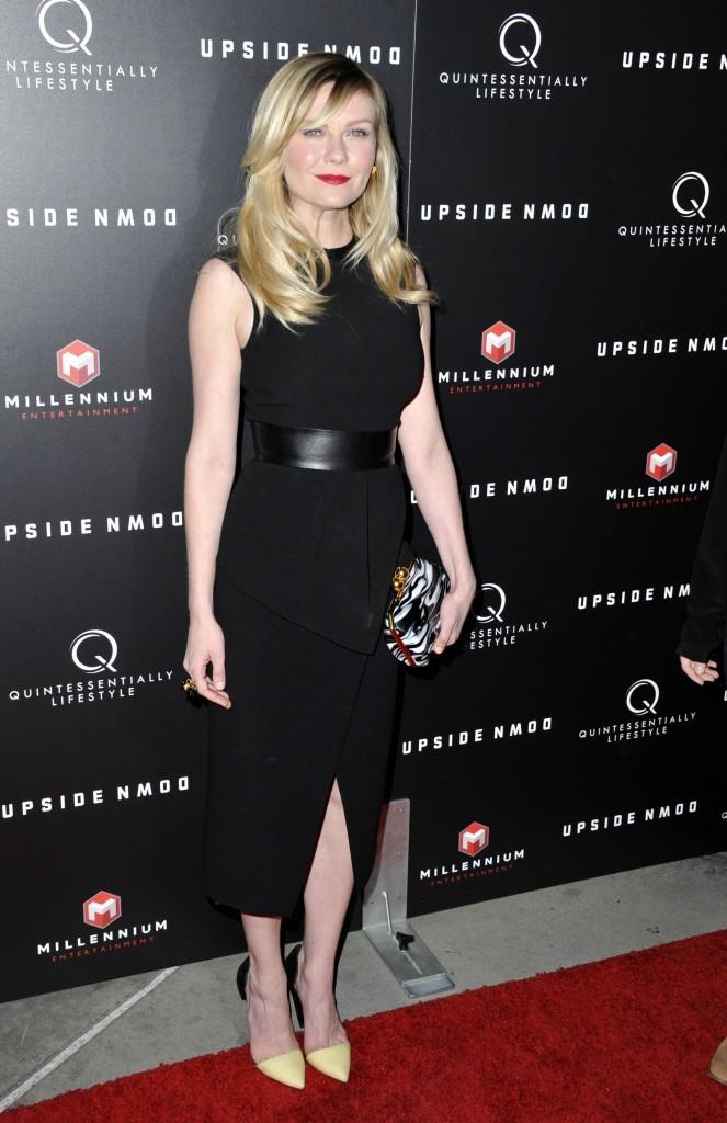 Kirsten Dunst, superbe dans sa robe noire