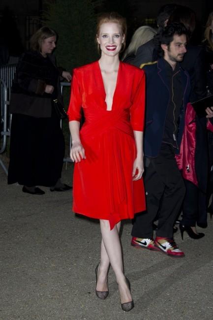 Jessica Chastain le 4 mars 2013 à Paris