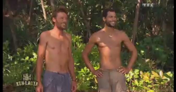 Ugo et Brice accueillent Denis sur le camp.
