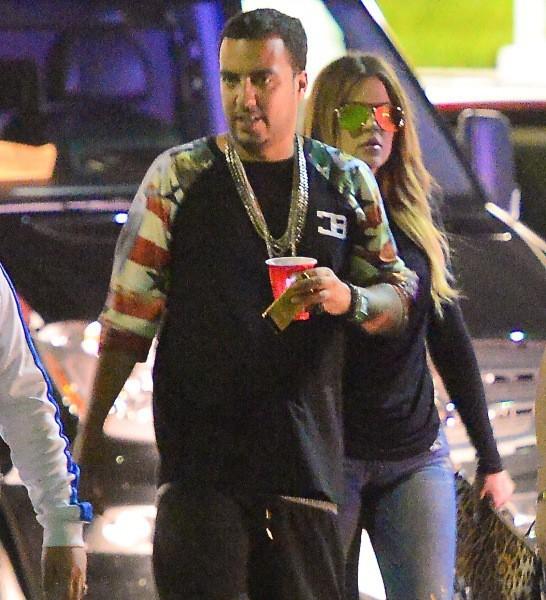French Montana et Khloe Kardashian à New York.
