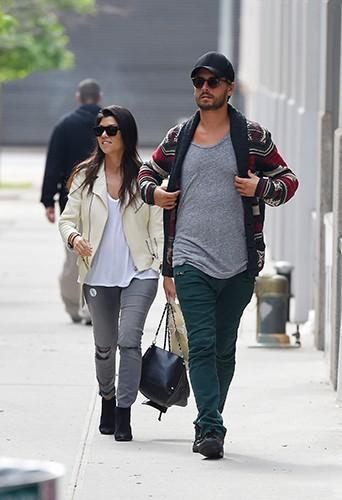 Kourtney Kardashian et Scott Disick à New York le 31 mai 2014