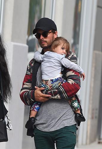 Scott Disick en famille à New York le 31 mai 2014