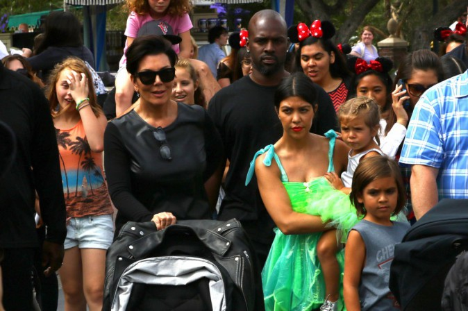 Kim et Kourtney Kardashian, North West et Penelope Disick le 8 juillet 2015