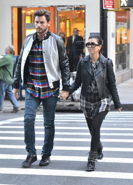 Kourtney Kardashian et Scott Disick à New York, le 4 novembre 2013.