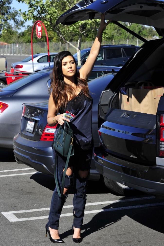 Kourtney Kardashian à Los Angeles, le 25 mars 2014.