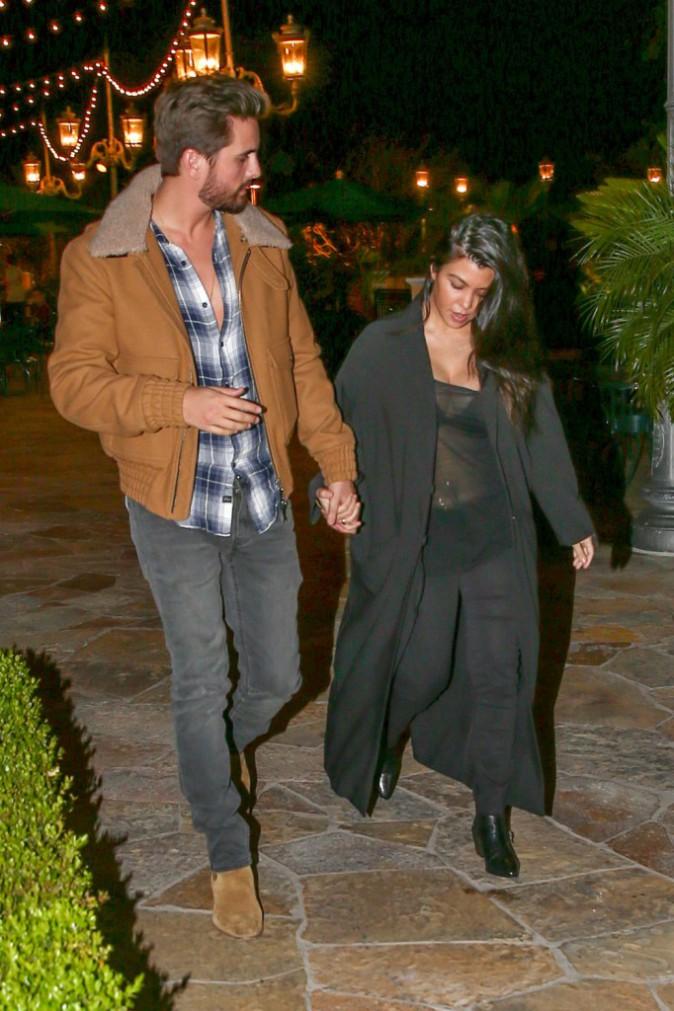 Kourtney Kardashian et Scott Disick le 2 février 2015