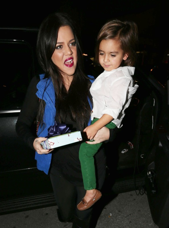 Khloe Kardashian et Mason, Miami, 14 décembre 2012.