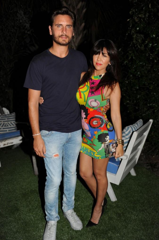 Kourtney Kardashian et Scott Disick à Miami, le 21 juillet 2013.